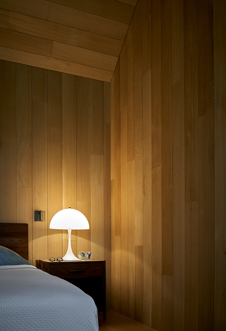 wood panels Montauk New York residence Dror Baldinger