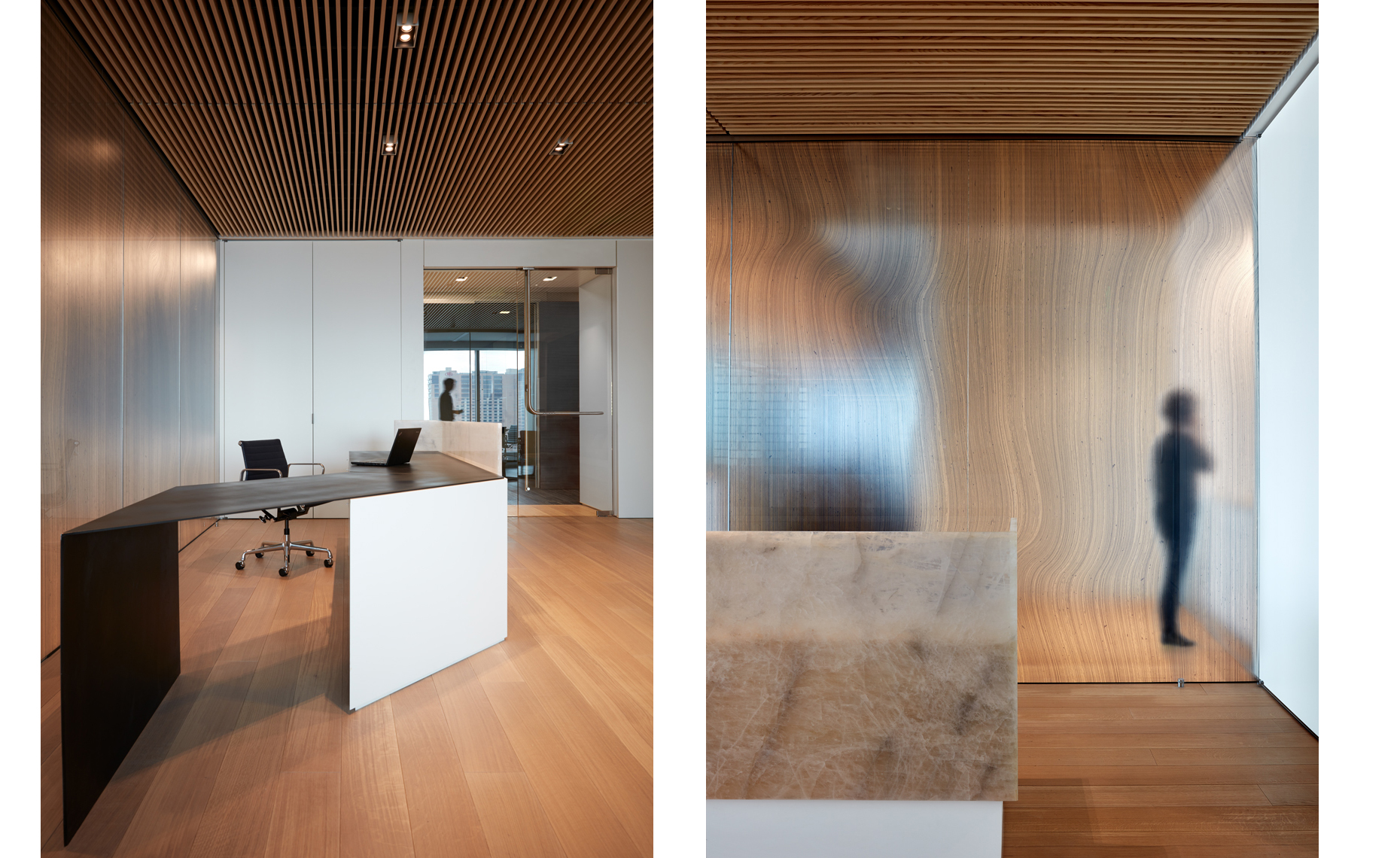 Aiken Gump law firm Austin texas Gensler dror baldinger FAIA photography wood ceiling floors  textured glass