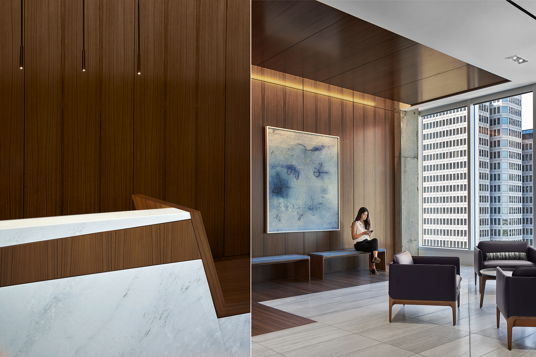 Dallas law firm interiors photography Gensler Dror Baldinger