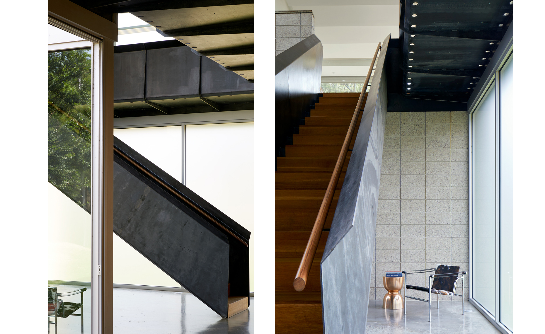 dror baldinger FAIA architectural photography steel stairs modernist minimalist interiors