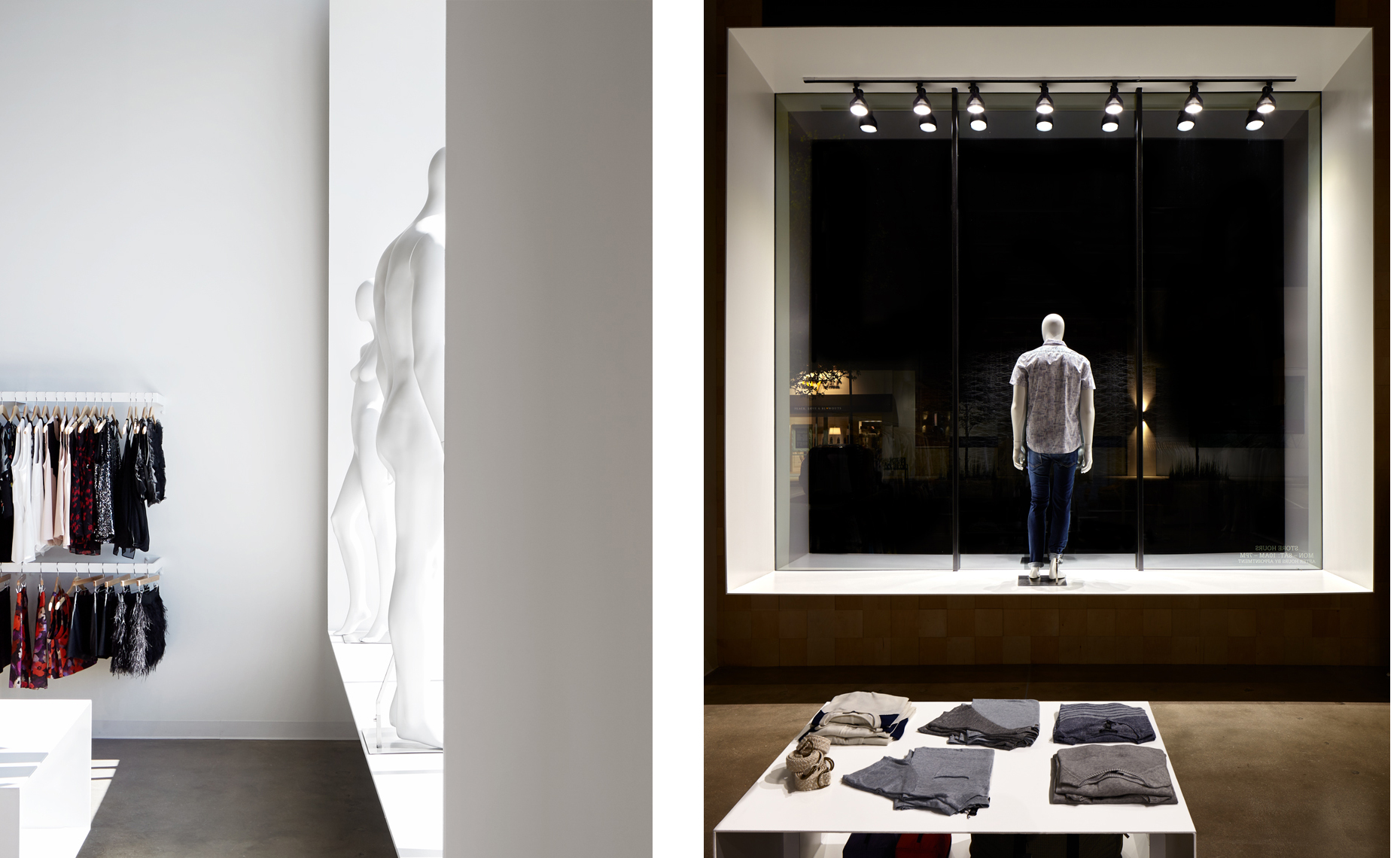 dror baldinger FAIA architectural photography of Pax & Parker high end retail clothing fort  worth texas