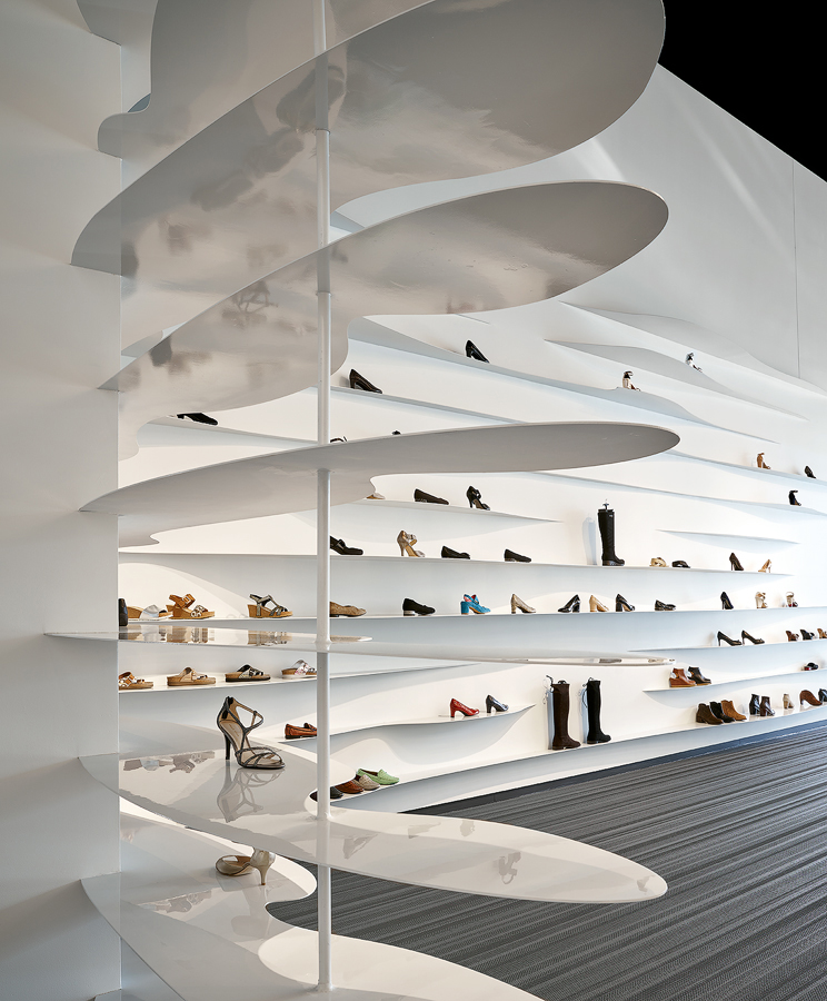 dror baldinger FAIA architectural photography of Eisenman high end retail store interior design