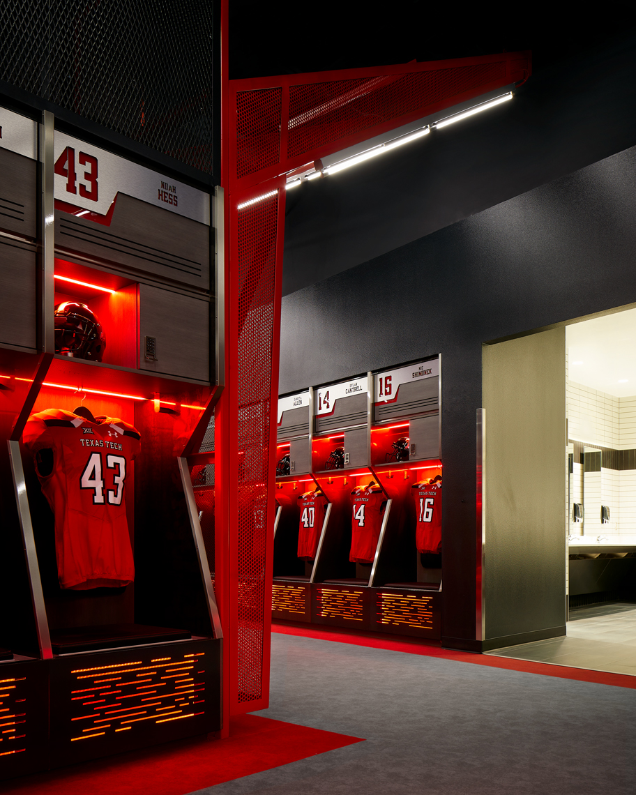 Dror Baldinger FAIA architectural photography Texas Tech football locker room